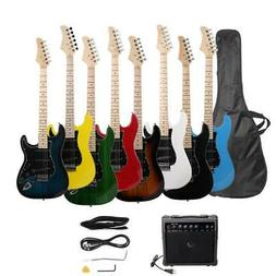8 Colors ST Burning Fire Practice Beginner Electric Guitar S