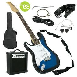 Full Size Electric Guitar with Amp, Case and Accessories Pac