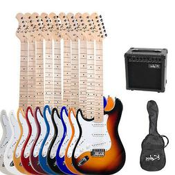 "Kalos 39"" Full Size Electric Guitar Pack w/ 15w amp ~8 Color"