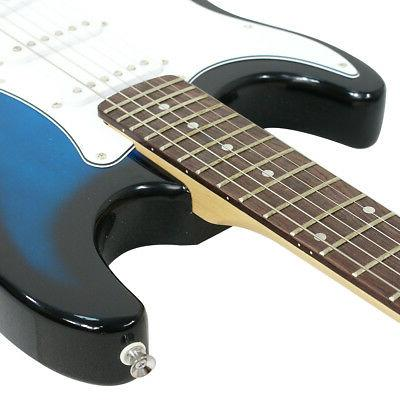 Full Size Blue Electric Guitar Amp, and Accessories Pack