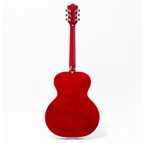 GROTE Electric Jazz Guitar Hollow Hardware Red Color