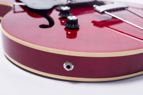 GROTE Electric Guitar Hollow Chrome Hardware Red Color