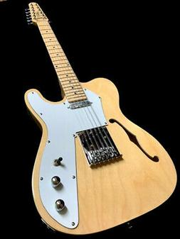 NEW TELE STYLE 12 STRING NATURAL SEMI-HOLLOW MAPLE TOP ELECT