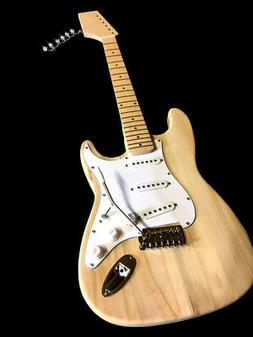 NEW PRO LOADED DIY 6 STRING MAPLE ELECTRIC STRAT GUITAR BUIL
