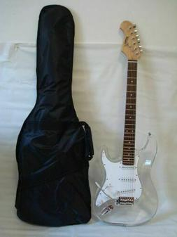 Professional 6 String Clear Body Lucite Electric Guitar with